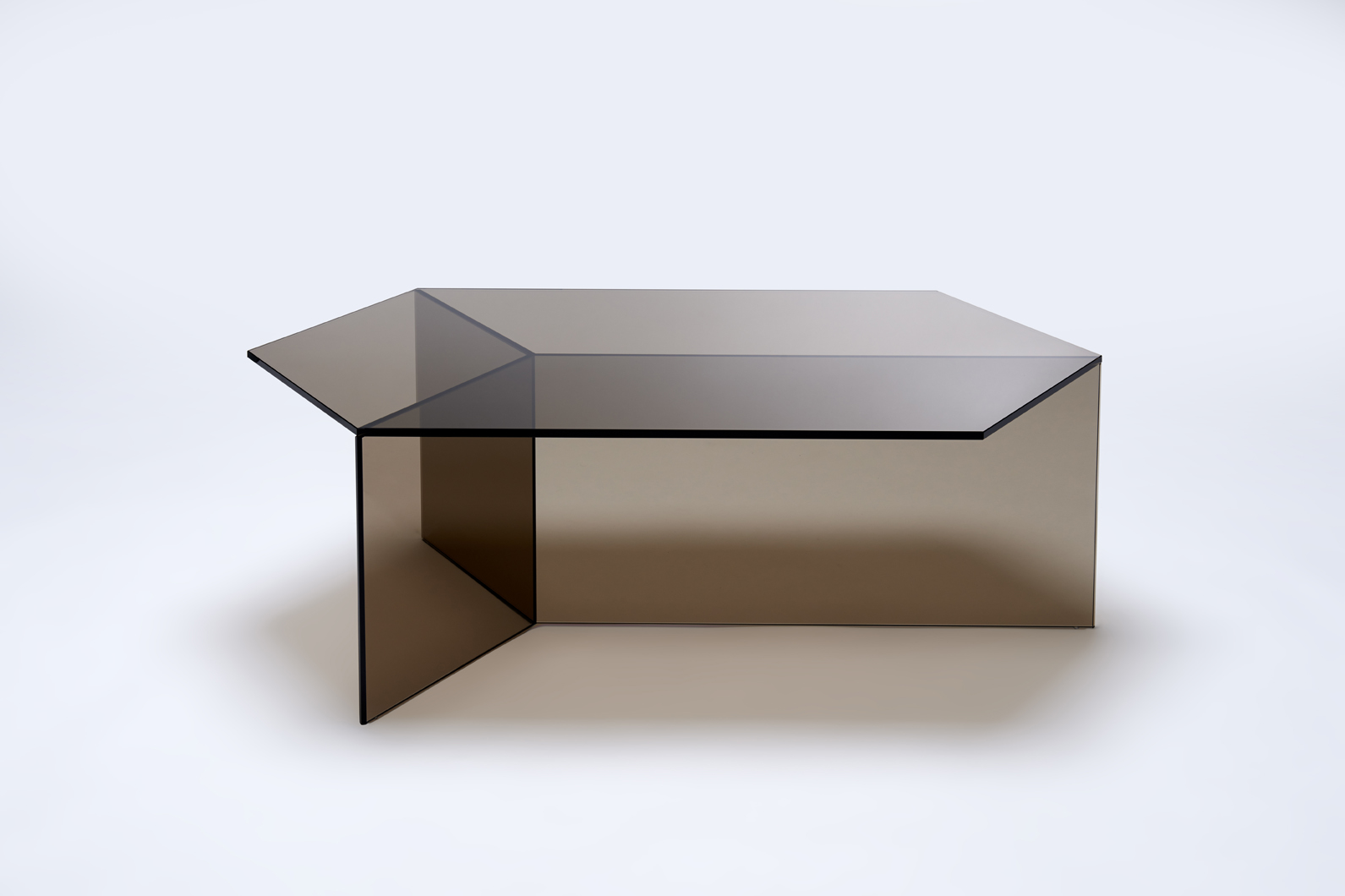 Side Or Coffee Table Made Of Coloured Tempered Glass